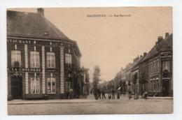 - CPA HAZEBROUCK (59) - La Rue Nationale 1914 (HOTEL DE LA CONCORDE - HOTEL DU FAUCON) - - Hazebrouck