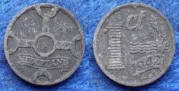 NETHERLANDS - 1 Cent 1942 KM# 170 WiIhemina (1890-1948) Zinc - Edelweiss Coins - Sin Clasificación