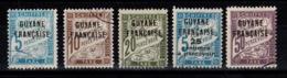 Guyane - Taxe YV 1 / 2 / 4 / 5 / 8 Obliteres Cote 6,20 Euros - Usados