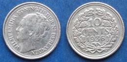 NETHERLANDS - Silver 10 Cents 1936 KM# 163 WiIhemina (1890-1948) - Edelweiss Coins - [ 3] 1815-… : Regno Dei Paesi Bassi