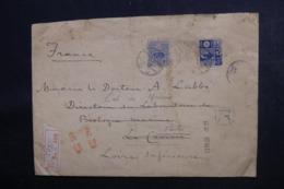 JAPON - Enveloppe En Recommandé De Tokyo Pour La France En 1922 , Voir Cachets Japonnais - L 48018 - Briefe U. Dokumente