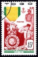 Togo  - 1952 -  Centenaire Médaille Militaire -  N° 255  - Oblit - Used - Togo (1914-1960)