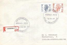 O53  Fédération Europ. Des Fonctionnaires Adm. Sup. Des PTT - VI. Congrès Ostende 1978  Recommandé  TTB - European Ideas