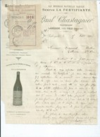 Facture1917-Eaux Minérales-Bassin De VALS -Paul Chastagner -1917. - Francia