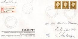 O54  Fédération Europ. Des Fonctionnaires Adm. Sup. Des PTT - III. Congrès La Haye 1972  Recommandé  TTB - European Ideas