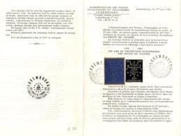O55  10 Ans De Protection Européenne Des Droits De L'homme. Luxembourg 1963. Feuillet De Présentation  TTB - European Ideas