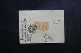 GRECE - Affranchissement Type Hermes En Paire Au Verso D'une Petite Enveloppe - L 48022 - 1886-1901 Small Hermes Heads