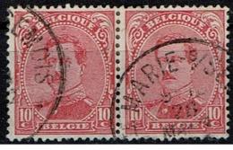 138 Paire  Obl Relais Ste-Marie-sur-Semois - 1915-1920 Albert I