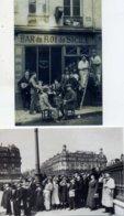 Bar Du Roi De Sicile + Pendant L'Eclipse 1912 Place De La Bastille Lot 2 CP Voeux De Patrick Bloche Mairie Du 11e Paris - Cafés, Hôtels, Restaurants