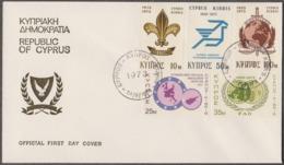 CYPRUS - INTERPOL - FAO - SCOUTS - FDC - 1973 - Politie En Rijkswacht