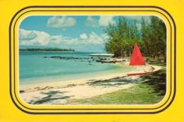 Maurice....timbre Au Dos Voir Scans....  Le Chaland Beach - Mauritius