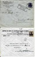 2 X Lettre Deutsches Reich    LIÈGE  H. Müller  +  BRUXELLES  Comptoir De Vente - WW I