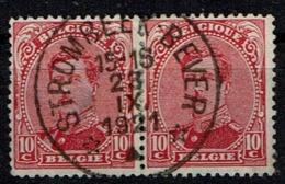 138 Paire  Obl Relais  Strombeek-Bever - 1915-1920 Albert I