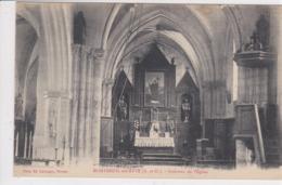 95 MONTREUIL Sur EPTE Intérieur De L'église ,envoyé à Labbé Poillot Saintsay Les Rouvray En 1923 - France