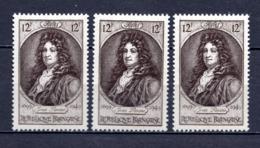 FRANCE LOT DE 3 TIMBRES DE 1949 N 848 NEUF ** 1ER CHOIX - Unused Stamps