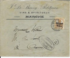 Lettre Deutsches Reich     MARCHE  De Barsy - Petitjean  Vins Et Spiritueux - WW I