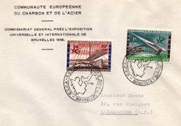 O57  CECA - EGKS - Exposition Universelle Bruxelles 1958 - Journée De L'Europe 9/5/1958  TTB - European Ideas