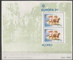 Cept 1981 Portugal Açores Azoren Yvertn° Bloc 2  *** MNH Cote 4 Euro - Europa-CEPT