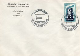 O63  CECA - EGSK - Europa 1956 - 30/10/58 Journée De Européenne à Luxembourg TTB - European Ideas