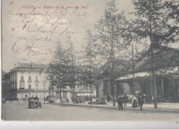 GENT / INGANG VAN DE ZUIDSTATIE  1908  ZELDZAAM - Gent