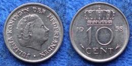 NETHERLANDS - 10 Cents 1958 KM# 182 Juliana (1948-1980) - Edelweiss Coins - Sin Clasificación