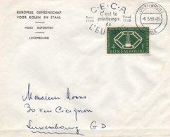 O65  CECA - EGSK - C'est Le Printemps De L'Europe: 9.5.50 - 9.5.58 Cachet Luxembourg Ville  TTB - European Ideas
