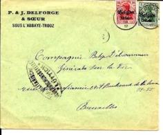 Lettre Deutsches Reich  TROOZ  P & J. Delforge  Sous L'Abbaye - Trooz - WW I