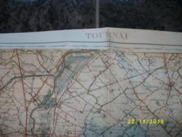 Carte Topographique De Tournai - Doornik (Estampuis - Warcoing - Mourcourt - Melles - Antoing - Templeuve) - Topographical Maps