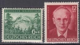 DR 855-856,  Postfrisch **, Peter Rosegger, 1943 - Allemagne