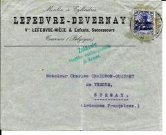 Lettre Deutsches Reich   TOURNAI  Moulin Lefebvre - Nièce - Guerre 14-18