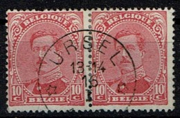 138 Paire  Obl Relais  Ursel - 1915-1920 Albert I