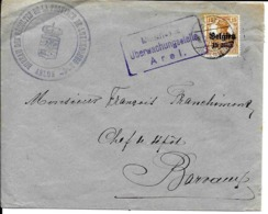 Lettre Deutsches Reich   ARLON  Bureau Des Récoltes De La Province - WW I