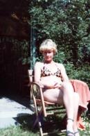 Photo Couleur B.B. Originale Portrait De Pin-Up Bonde Sexy  Au Bikini Léopard En Terrasse Nocturne Vers 1970 - Pin-ups