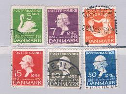 Denmark 246-51 Used Set Hans Christian Andersen 1935 (D0207) - Unclassified