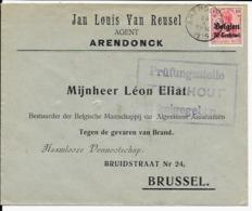 Lettre Deutsches Reich  ARENDONCK   Van Reusel - WW I