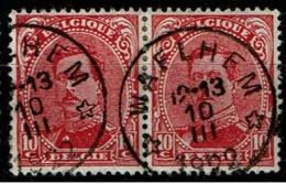 138 Paire  Obl Relais  Waelhem - 1915-1920 Albert I