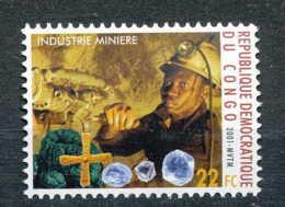 [810415]RD CONGO 2001 - N° 1902, Industrie Minière, Diamant, Métiers.SNC. - Minéraux