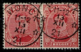138 Paire  Obl Relais  Wonck - 1915-1920 Albert I