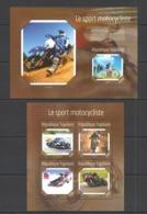 TG526 2014 TOGO TOGOLAISE TRANSPORT SPORT MOTORCYCLES LE SPORT MOTOCYCLISTE KB+BL MNH - Moto