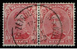 138 Paire  Obl Relais  Zetrud-Lumay - 1915-1920 Albert I