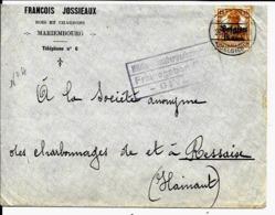 Lettre Deutsches Reich   MARIEMBOURG  François Jossieaux  Bois Et Charbon  ( Militar Givet ) - [OC1/25] Gov. Gen..