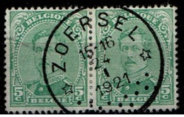 137B Paire  Obl Relais  Zoersel - 1915-1920 Albert I