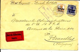Lettre Deutsches Reich  Exprès   TONGEREN - WW I