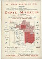 LE THEATRE ILLUSTRE DU PNEU . CARTE MICHELIN . - Advertising