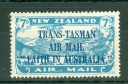 New Zealand: 1934   'Trans-Tasman Air Mail Faith In Australia' OVPT     SG554     7d    MH - Unused Stamps