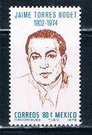 Mexico 1141 MNH Jaime Torres Bodet (M0116) - Mexico