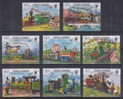 K22. Antigua & Barbuda - MNH - Cartoons - Disney's - Trains - Disney