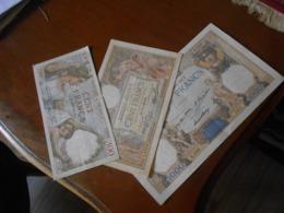 FRANCE      3   VERY   OLD    BILLETS  LOT - 1871-1952 Frühe Francs Des 20. Jh.
