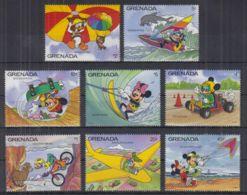 S22. Grenada - MNH - Cartoons - Disney's - Characters - Transport - Disney
