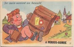 22 PERROS-GUIREC  Carte à Système  Je Suis Arrivé En Beauté à Perros-Guirec - Dreh- Und Zugkarten